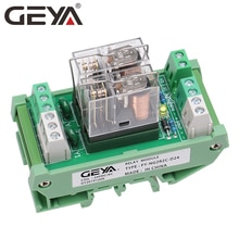 GEYA NG2R Module de relais à 2 canaux   12V 24V 1 relais SPDT 10A Type fiche relais Omron