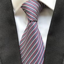 10 cm Width Classic Men's Ties Jacquard Woven Neck Tie Fashion Striped Neckties for Men Birthday Gif