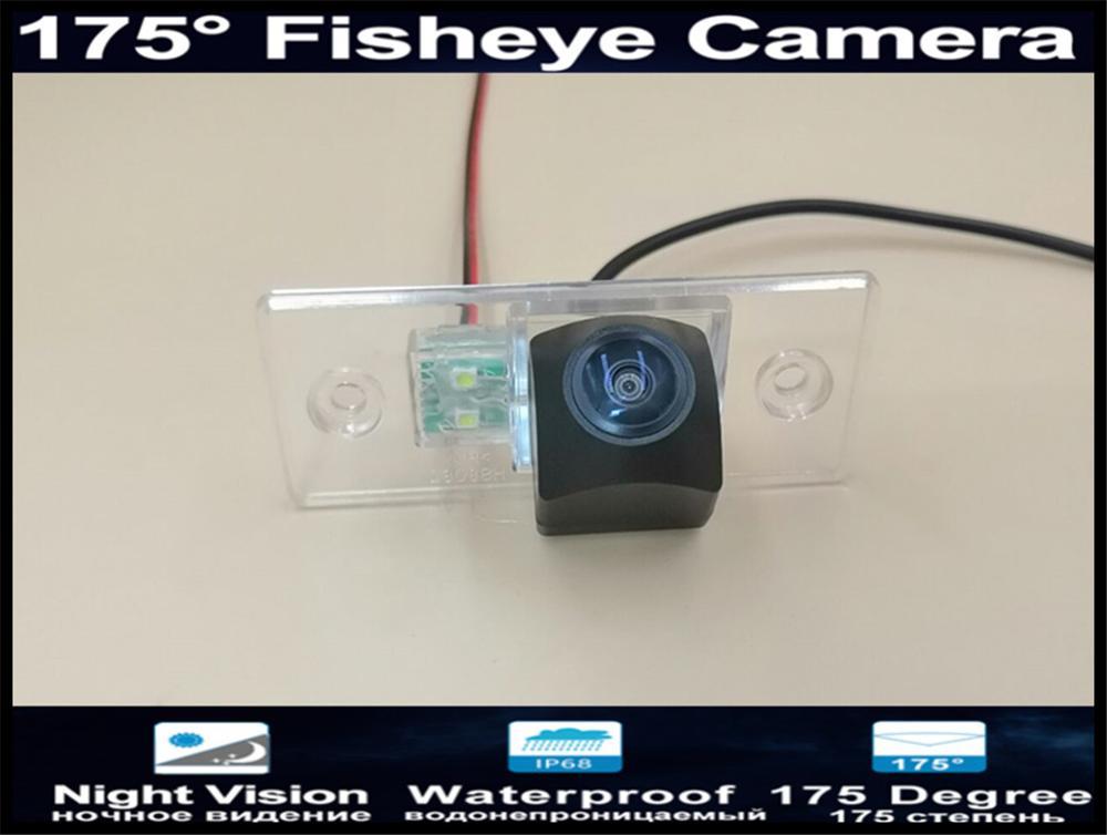 175 grados 1080P lente ojo de pez cámara de Vista trasera de coche de aparcamiento inverso para Skoda Fabia 2008-2013 Octavia RS cámara de coche