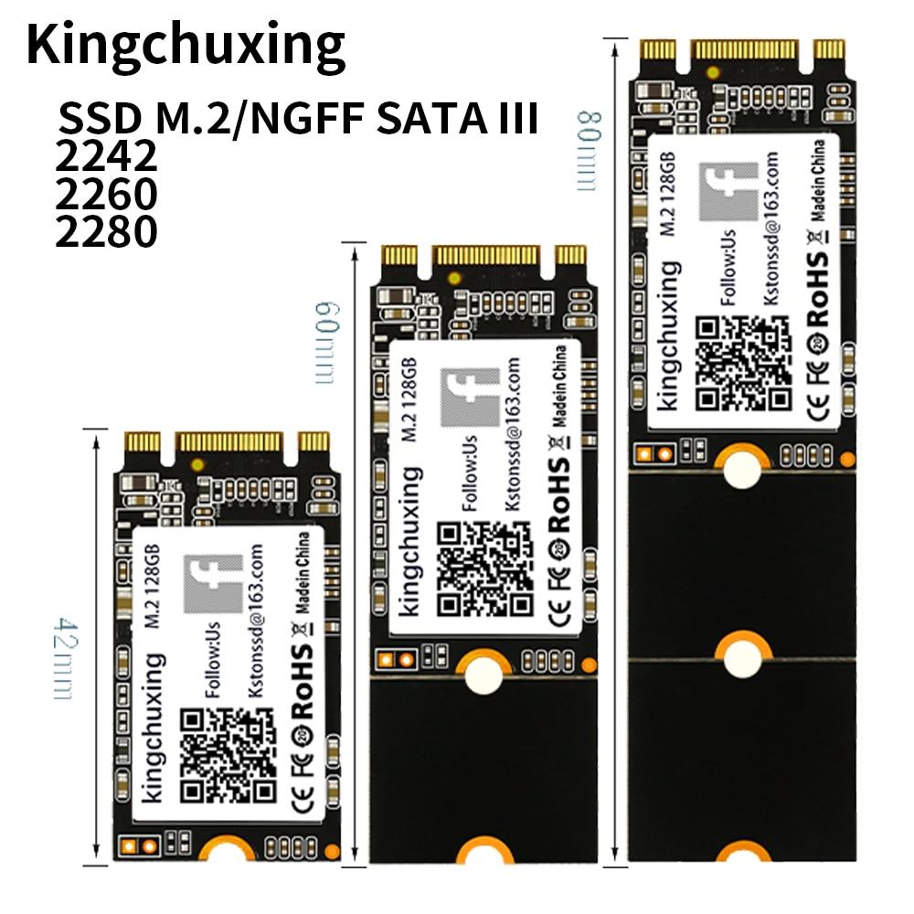 Kingchuxing ssd m2 sata M.2 NGFF SSD 512gb 2242 2260 2280 hard drive disk 1tb 128gb 256gb for Laptops Desktop solid state drive