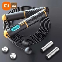 xiaomi digital counting wireles jump rope cordless skipping rope speed for boxing training weight loss home exercise workout hot
