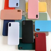 Caja de Color caramelo para OPPO R9 R9S R11 R11S más R11Plus mate de Color sólido, carcasa blanda de Tpu de silicona Coque trasero de teléfono