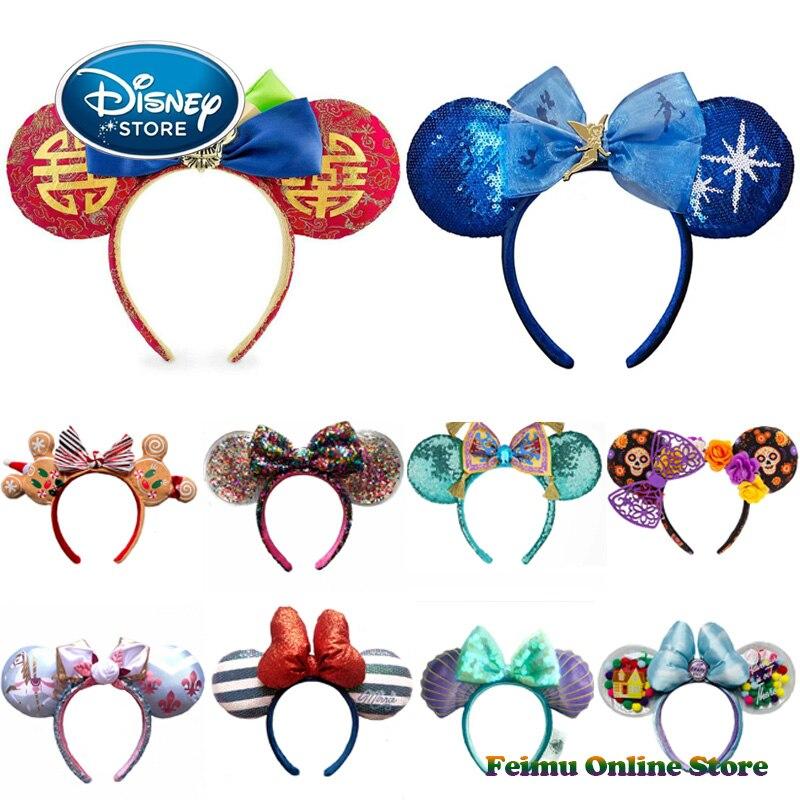 Disney 28 Стиль черные чехлы для мобильных телефонов с Микки и Минни повязка на голову, для взрослых/детские серебряные свадебные женские украш...