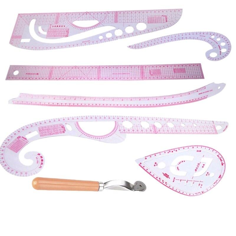7 Uds. Curva multifunción regla de dibujo línea recta costura ropa reglas para Diseño para diseñadores sastres patrón Making Mayitr