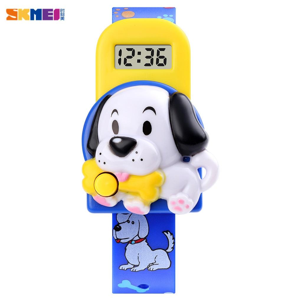 Cute 3D Cartoon Dog Digital Children Wrist Watch Date Time Clock 5bar Waterproof Kids Sport Watches For Boys Girls Gift Clock