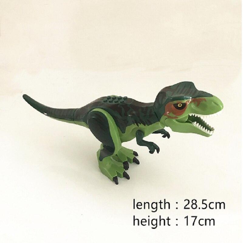 Mundo Parque Jurásico Tiranosaurio rex verde grandes dinosaurios bloques mejor regalo para niños chico