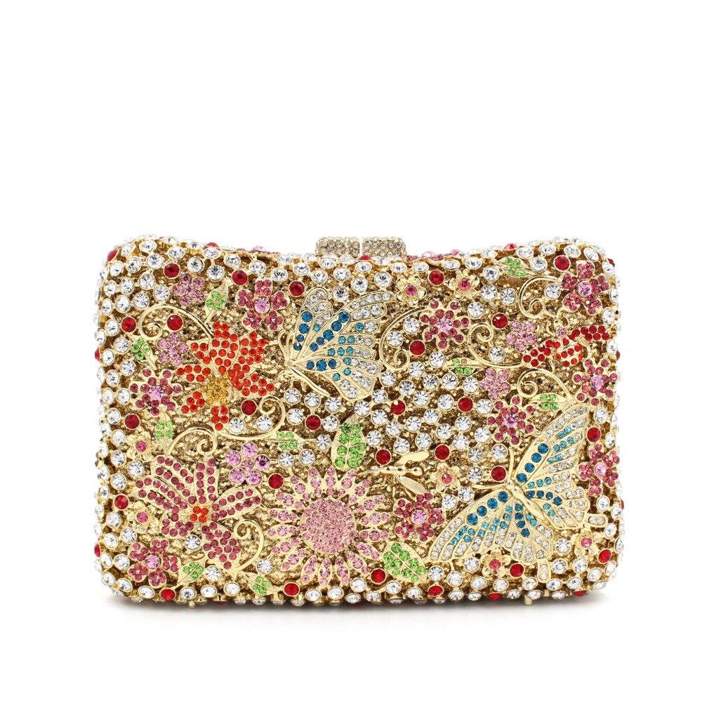حقيبة يد نسائية فاخرة من الماس ، حقيبة كتف بسلسلة ، عصرية ، لحفلات الزفاف