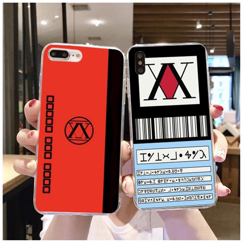Anime de Hunter X hunter 3 Coque Shell Caso de Telefone para Maca iPhone 8 7 6 Plus 5X11 Pro Tampa suave de silicona TPU Fundas