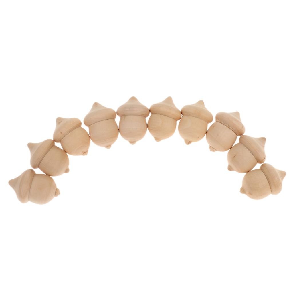 10 peças de madeira borlas para decoração de casamento/diy pingente artesanato/jogo de contagem