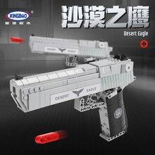 Désert aigle pistolet XingBao puissance pistolet SWAT armée militaire modèle blocs de construction arme Compatible Lepins briques jouets pour enfants