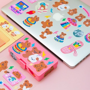 Moveable Stickers Cake Bear Series Korean Style Cute DIY Seamless Computer Handbook Material Stickers