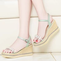 sandals woman moolecole high heels women shoes wedges heels platform women sandals buckle fashion women party shoes 2 9618