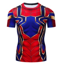 Kinder Batman Spiderman Ironman Superman Captain America Marvel 3D T Hemd Kostüm Comics Superhero kinder T-Shirt Tops & Tees