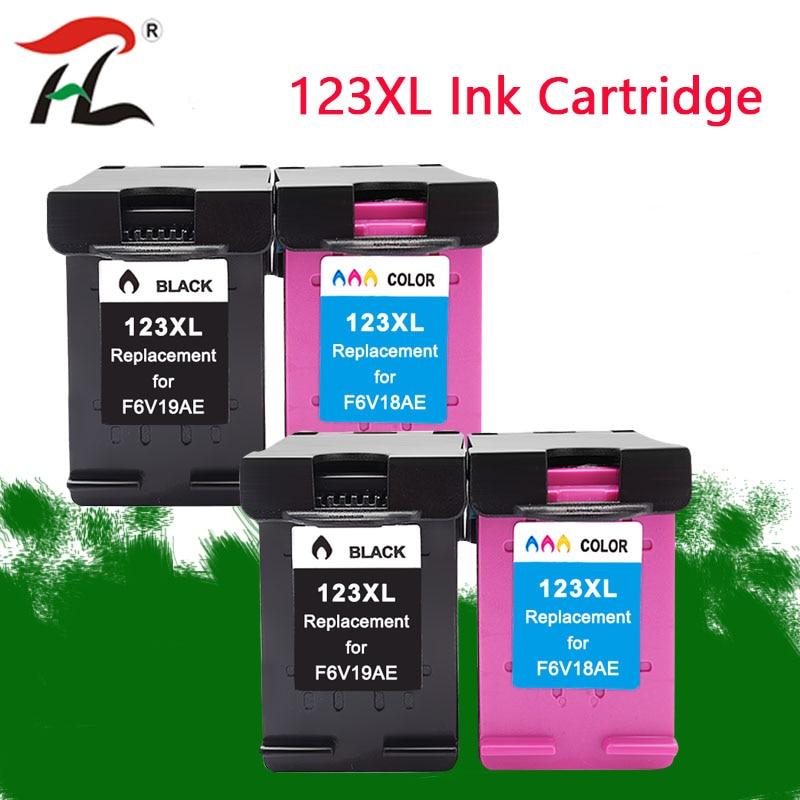 Hp 123 XL Substituição Do Cartucho de tinta recarregado para hp 123 123XL para Deskjet 1110 2130 2132 2133 2134 3630 3632 3637 3638 printer