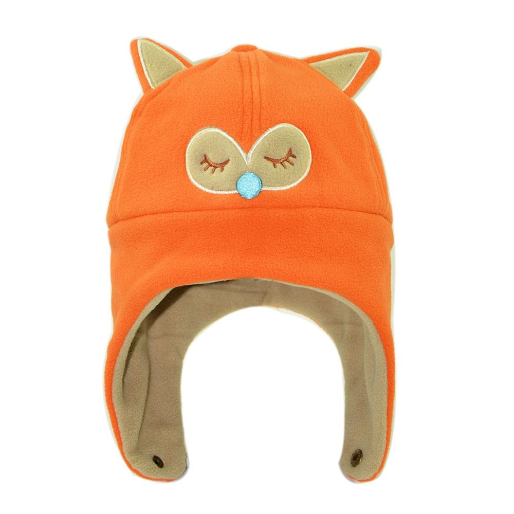 2019 new kids cartoon winter hat animal fox bear boys girls polar fleece earflap hat