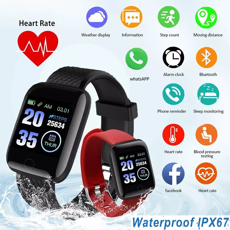 D13 Smart Watch Women 2021 Fitness Tracker With Silicone Strap Sport Wristband For IOS Android Water