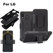 Für LG v30 stylo 3 2 plus 5 G8 THINQ Q STYLUS K10 2018 V20 G7 G6 G5 Heavy Duty rüstung Gürtel Clip Robuste Stoßfest Ständer Fall