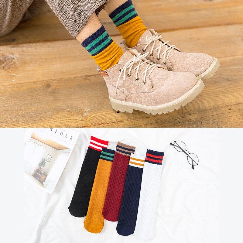 1 par de calcetines cortos para hombre, calcetines cortos para mujer, calcetines de algodón a rayas florales bonitos para niña, calcetines cortos, calcetines Kawaii, calcetines escolares estilo japonés