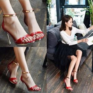 Shoes Sandals Waterproof Platform Fine heel Buckle High-heeled Will Code Women's Shoes High-heeled Shoes