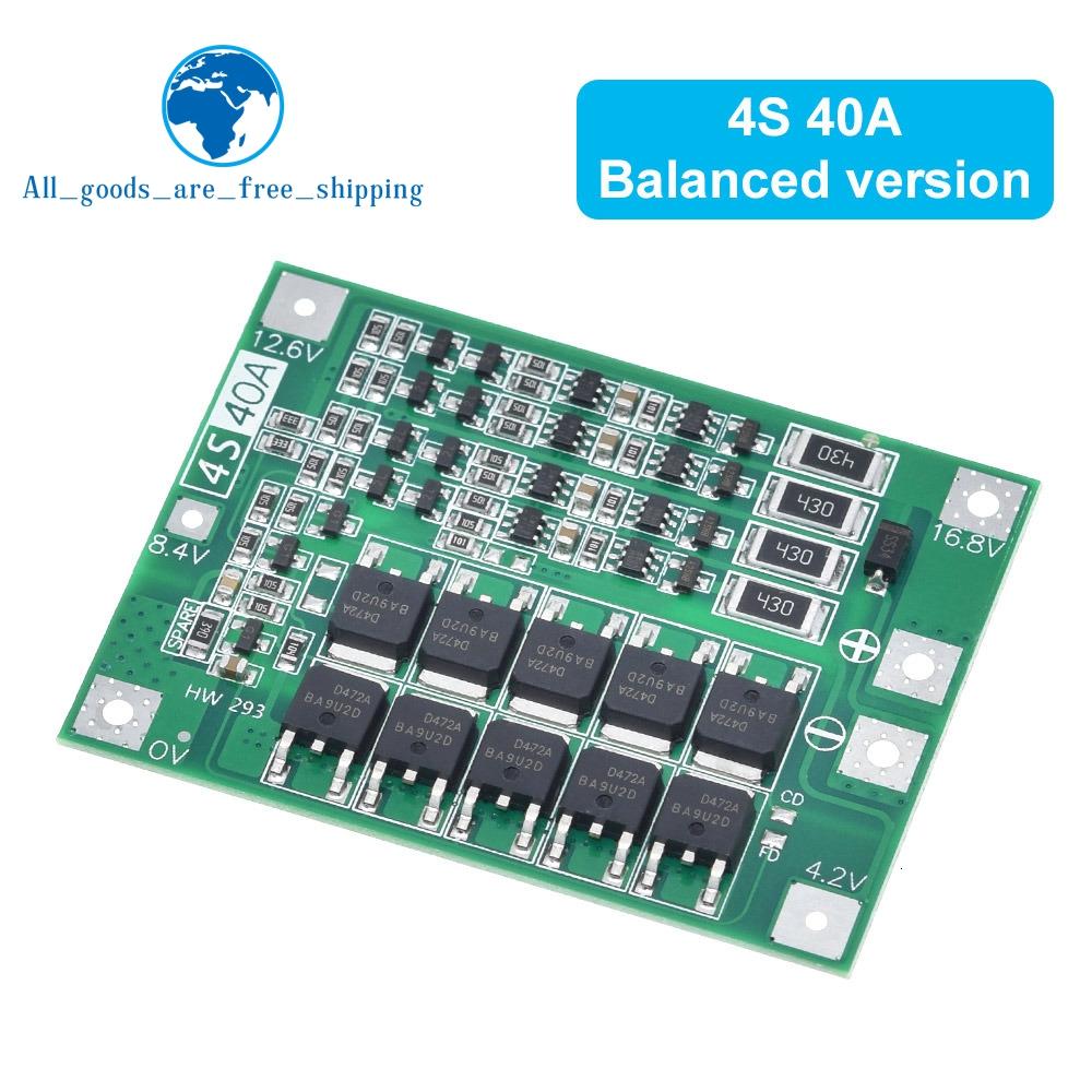 3S 4S 40A 60A Li-ion Lithium Battery Charger Protection Board 18650 BMS For Drill Motor 11.1V 12.6V/14.8V 16.8V Enhance Balance