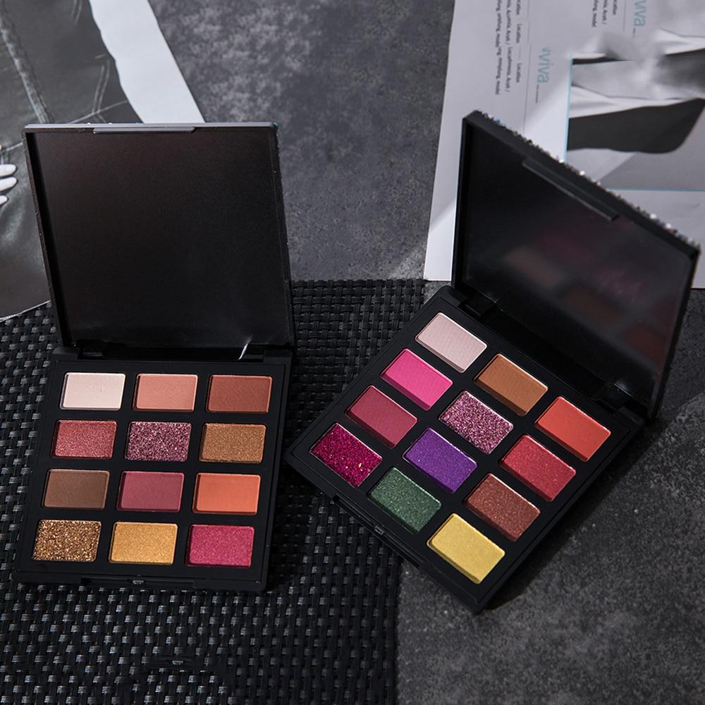 New Fashion Palette Eyeshadow Makeup Cosmetics Diamond Glitter 9 Color Cosmetics Eye Shadow High Quality