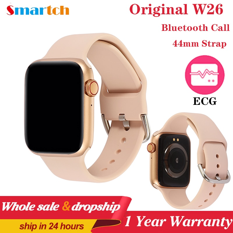 Series 6 Smart Watch 2020 IWO W26 Pro SmartWatch ECG Heart Rate Monitor Temperature Waterproof PK IWO 8 13 For Apple&Android