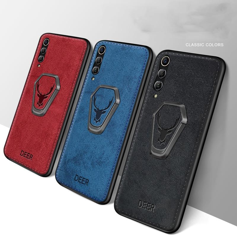 Funda étui pour Xiaomi 10 Pro Poco X2 Redmi Note 9S Note 9 Pro Max K30 Mi CC9 Pro tissu magnétique coque support téléphone housse