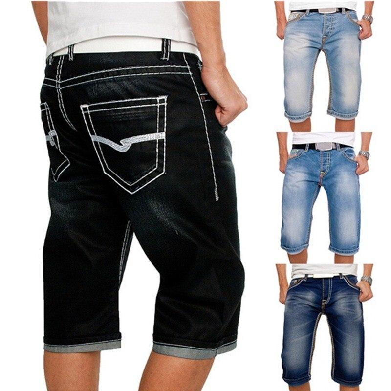 2021 летние новые модные повседневные облегающие мужские Стрейчевые короткие джинсовые Высококачественные эластичные джинсовые шорты Satine в...