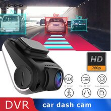 Vehemo Full HD USB 1080P Car DVR Dash Cam Mini Night Vision Loop Recording Vehicle for Automotive Auto Video Recorder Camera