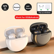 LS Bluetooth Headphones 5.0 TWS Pro6 In-Ear Sport Waterproof Gaming Stereo Bass Auto Connect  Earpho
