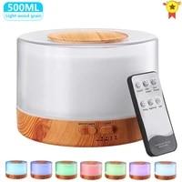 Z60 500ML Diffuseur Daromatherapie Humidificateur Dair avec LUMIERE LED de Piece A La Maison Ultrasonique Brume Fraiche Arome Diffuseur Dhuile Essentielle