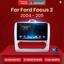 Junsun V1 2G + 32G Android 9,0 DSP Für ford focus 2 Mk2 2004-2011 Auto Radio multimedia Video Player Navigation GPS RDS 2 din dvd