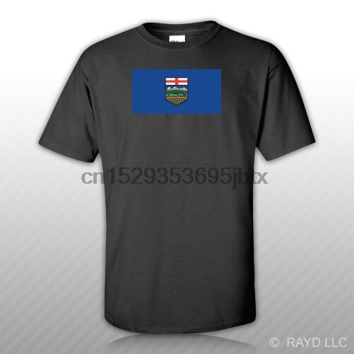 Alberta Flag T-Shirt Tee Shirt Free Sticker Canada bc province