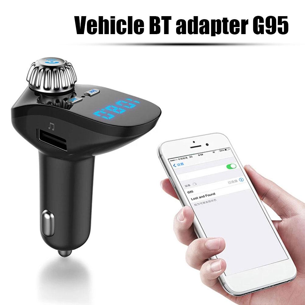 G95 автомобильный 4,2 + EDR FM-передатчик для автомобиля беспроводной FM-радиоадаптер Громкая связь MP3-плеер а USB Автомобильное быстрое зарядное ус...