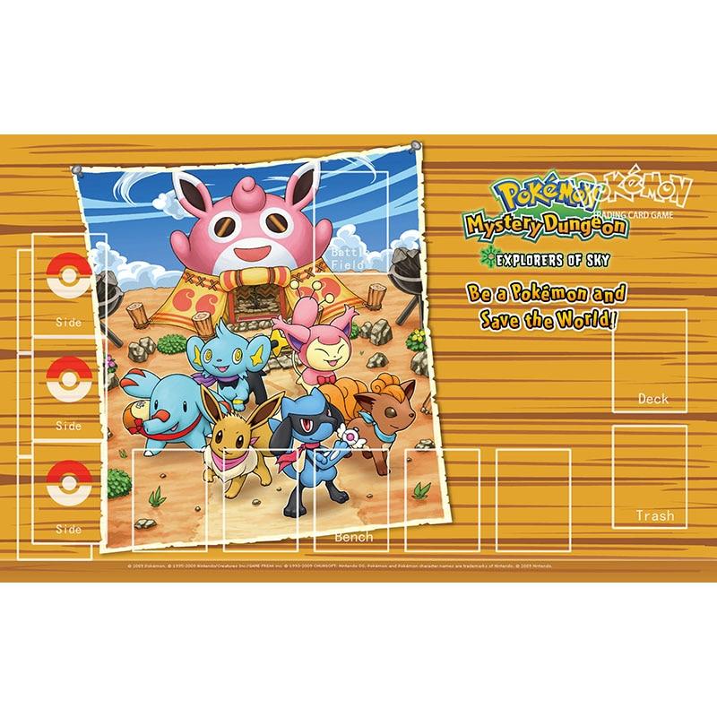 Pokemon tarjeta Playmat misterio Dungeon juego mapa Mat Pelipper Mouse Pad para niños regalos