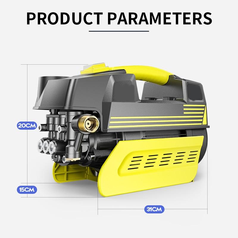 S2-002 ارتفاع ضغط السيارات غسالة المنزلية 220 فولت مضخة مياه للسيارة التلقائي المحمولة مدفع المياه تنظيف آلة سيارة 1 قطعة