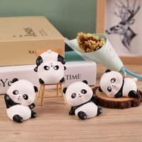 Decoration creative de Panda pour la maison et le bureau  cadeau pour etudiant  voiture  Souvenir en resine