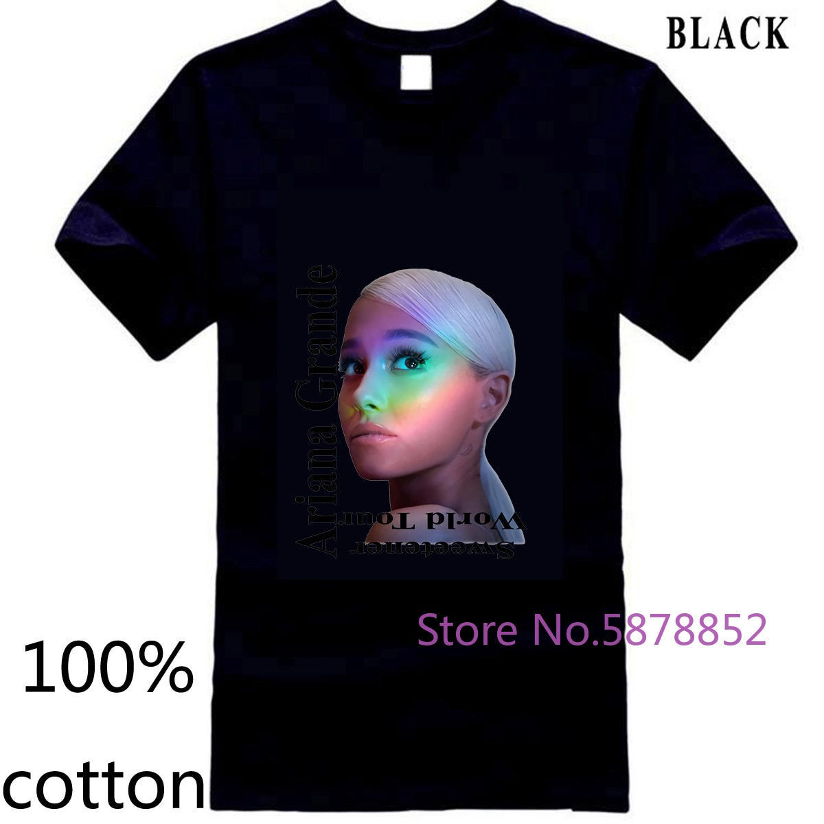 Vintage Ariana Grande - Sweetener World Tour Best Reprint New Men Classical men's t shirt t-shirt tops tees 100% cotton
