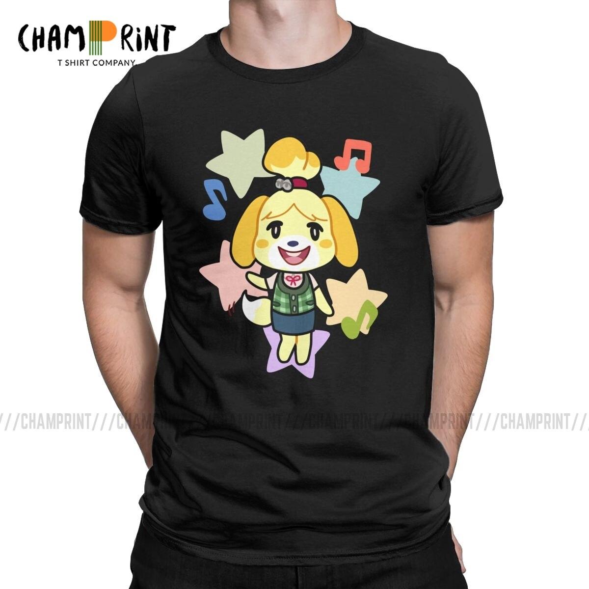 Isabelle de animal crossing t camisa masculina louco t manga curta crewneck t-shirts algodão presente de aniversário roupas