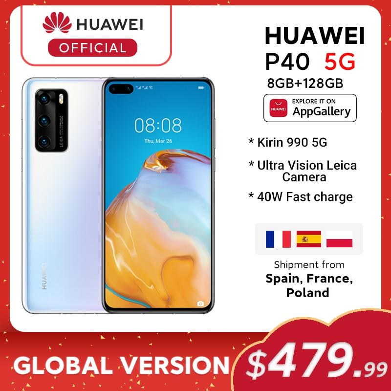 In Stock Global Version Huawei P40 5G Smartphone Kirin 990 8GB 128GB 50MP Ultra Version Camera 6.1 inch SuperCharge NFC