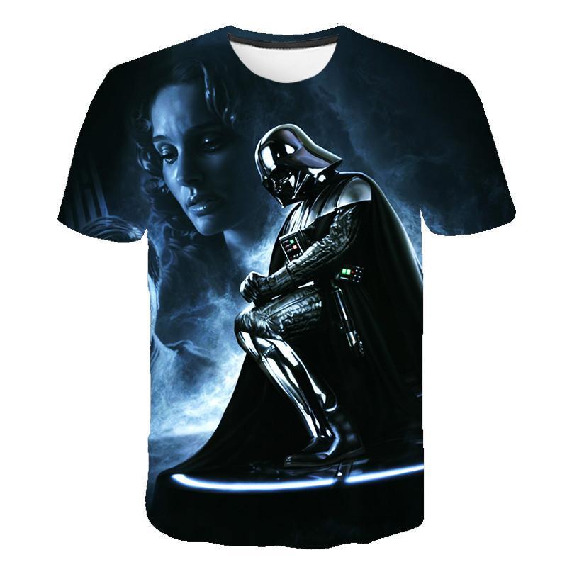2020 New Fashion starwars tshirt Men Women T-shirt 3D Print Star Wars Movie Tee shirts Casual T Shirt Summer Tops Brand Clothing