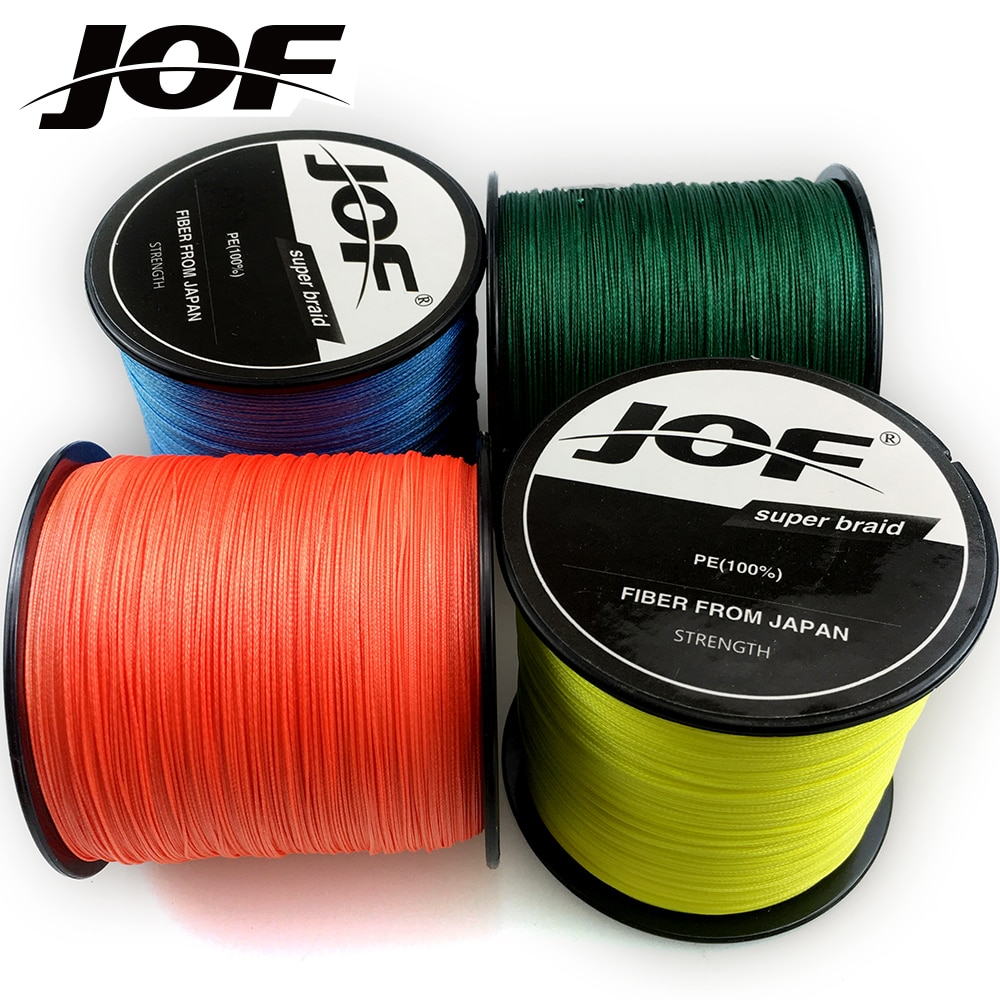 JOF 500M 8 Strands 18 22 31 39 43 52 61 78 96 119lb PE Fishing Line Braid Multifilament Fish Wire Rope Cord Carp