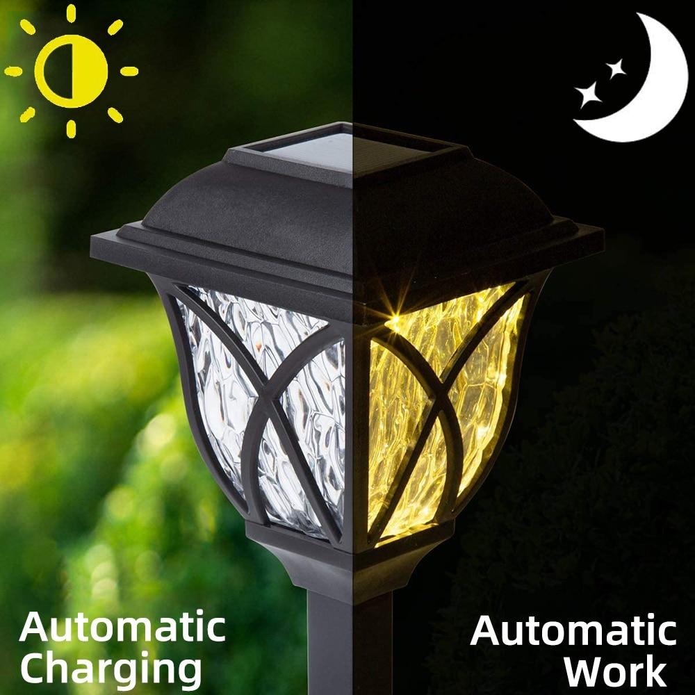 Solar Light Lamp Outdoor Garden Solar Channel Lamp LED Waterproof Solar Torch Light Garden Lamp Landscape Decoration Lawn Lights enlarge