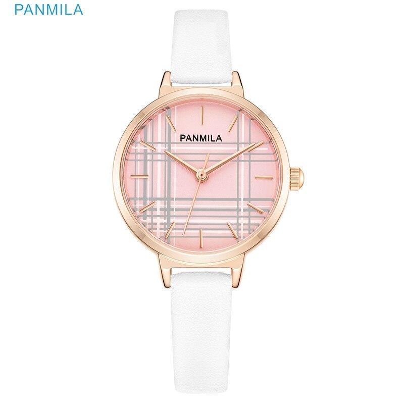 PANMILA Leather Women Watches 2021 Beautiful Unique Design Dial Quartz Wristwatch Clock Female Fashion Dress Watch Montre femme enlarge