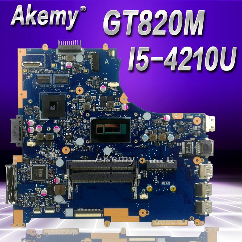 Akemy ل For Asus PU451LD PU451 PU451L اللوحة الأم للكمبيوتر المحمول i5-4200U 1G ذاكرة الفيديو PU451LD اللوحة REV2.0 100% اختبارها