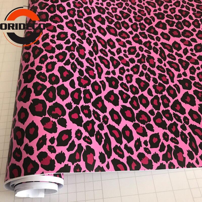 10/20/30/40/50X152CM Russland Heißer Rosa Leopard Camouflage Vinyl Wrap Aufkleber film Motorrad Lkw Auto Styling Camo Verpackung