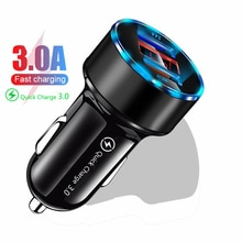 Digital Display QC 3.0 Dual USB Car Charger For iPhone Xiaomi Samsung Quick Charge 3.0 Fast Charging