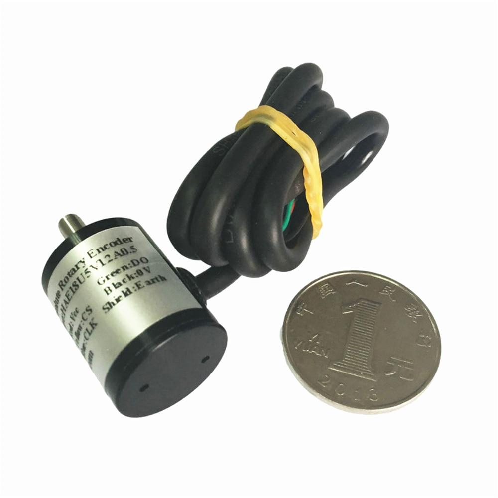Sensor de ángulo de pasillo absoluto CALT sensor HAE28 serie 28mm interfaz de salida de voltaje del eje 0,5 m Longitud del cable