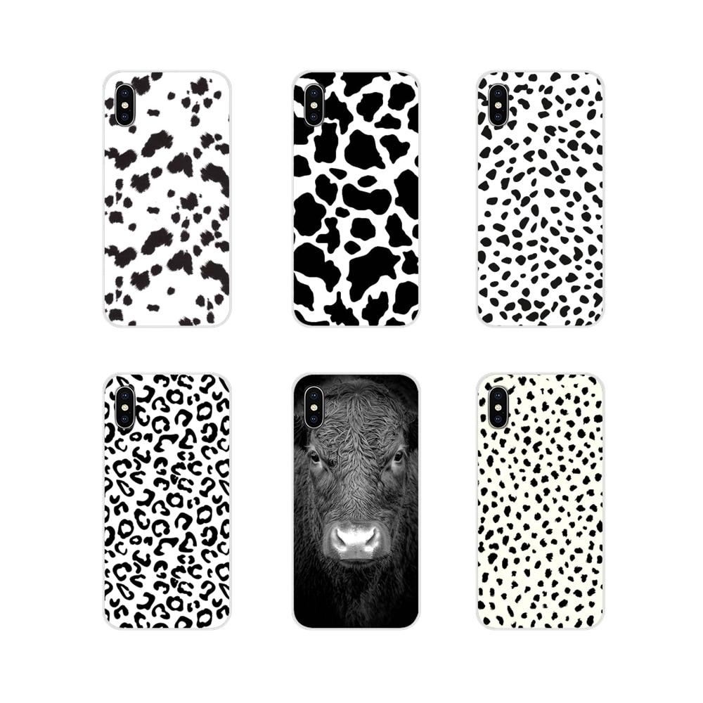 Vaca Preto branco Símbolo Para Huawei Honor 4C 5C 6X 7 7A 7C 8 9 10 8C 8S 8X 9X 10I 20 Lite Pro Acessórios Escudo Do Telefone Covers