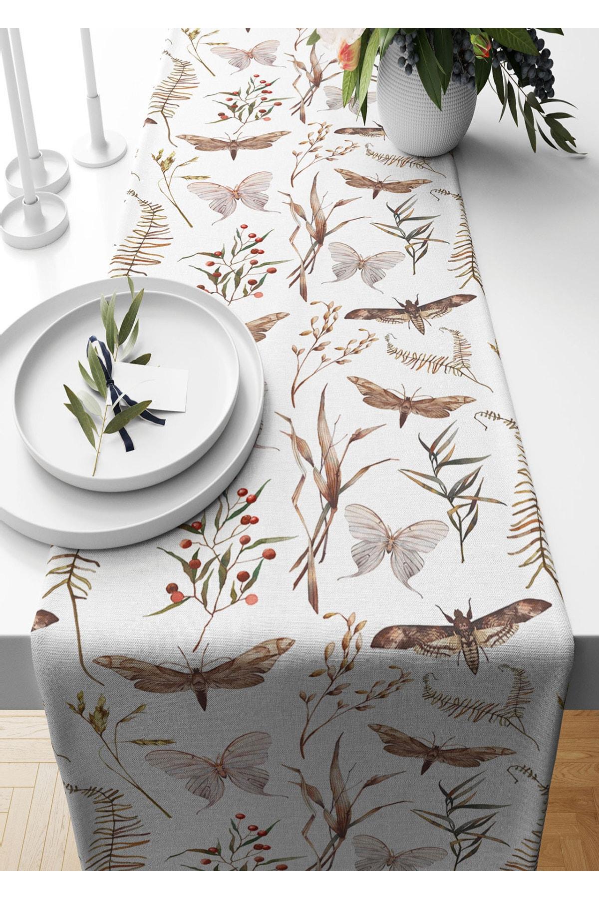 عداء 40*140 سم فراشة نمط الجلد المدبوغ المنسوجة مفرش طاولة غرفة المعيشة المطبخ هدية